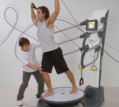 IMOOVE -bio mechanical mobile platform that provides an unstable workout muscle groups of the body responsible for the coordination and mobility of thespine